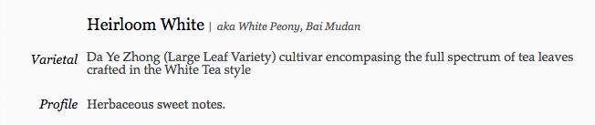 Five Mountains Tea - White Peony (Bai Mu Dan)
