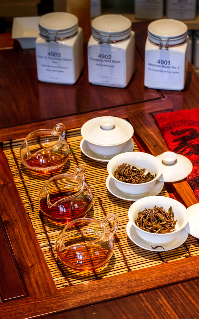 Black tea tasting at the Phoenix Collection