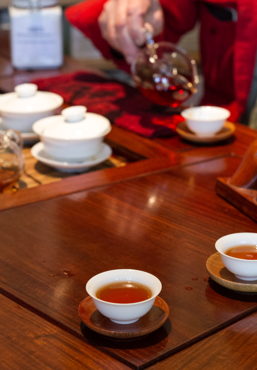 Tea tasting at the Phoenix Collection