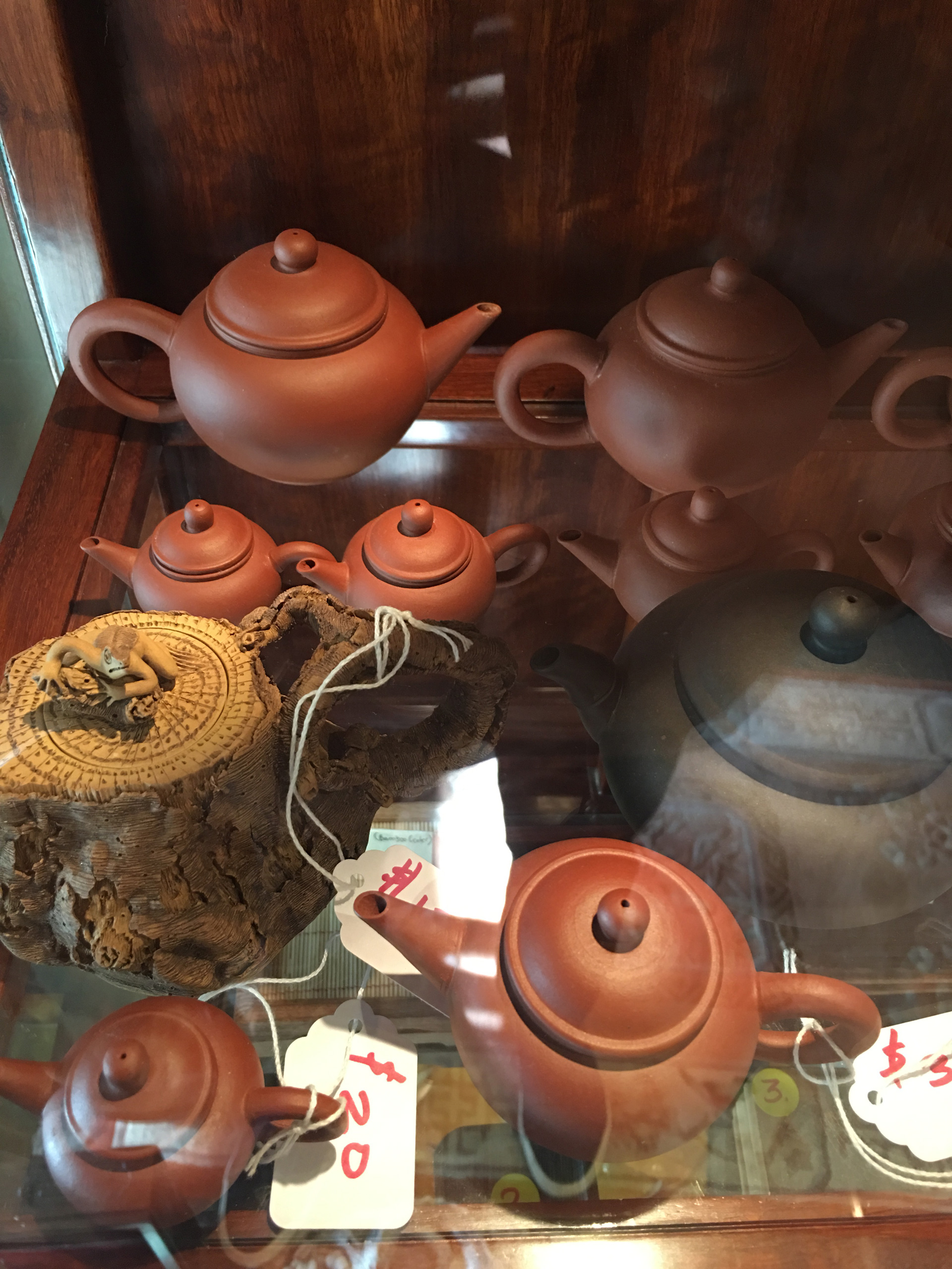 Yixing tea pots at the Phoenix Collection