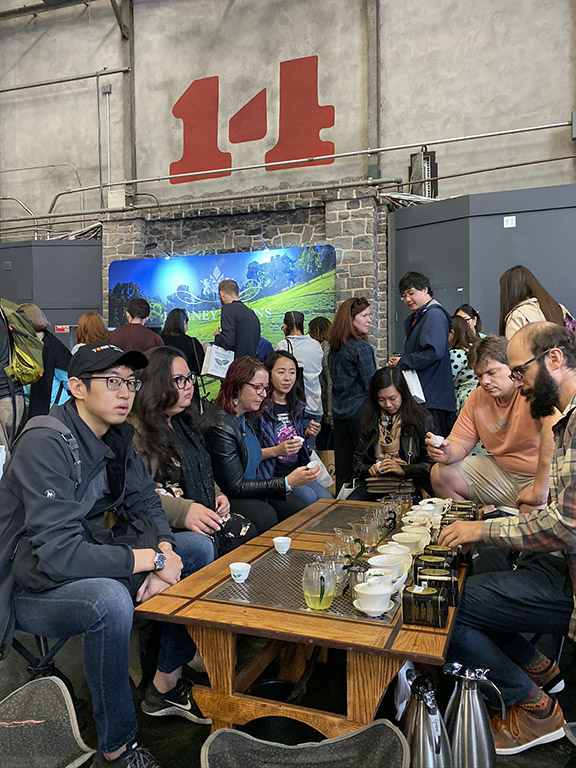 san francisco tea festival harney and sons gongfu table